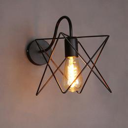 Wholesale Industrial Light Bulb Cage - Wholesale-Vintage Iron Cage Wall Lamp Industrial Wall Light Edison Light Bulb Decorative Wall Sconce Bar Restaurant Fixture Lighting
