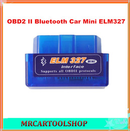 Wholesale Top Auto Code Readers - 2015 Top-Rated New Mini ELM327 Interface V1.5 OBD2 II Bluetooth Car Auto Diagnostic Scanner Tool Mini ELM327 Free Shipping