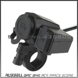 Wholesale Cigarette Lighter Usb Power Adaptor - Motorcycle12v to USB Waterproof Socket Motorbike Cigarette Lighter Adaptor 5V USB Power Charger for phone, GPS ,Pad