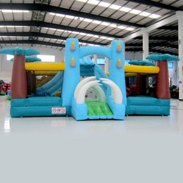 Wholesale Inflatable Fun Land - AOQI inflatable fun city inflatable Ivory coconut tree fun city inflatable fun land for kids for sale made in China