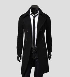 Wholesale Stylish Men Winter Coats - NewFashion Stylish Men's Trench Coat, Winter Jacket ,Double Breasted Coat ,Overcoat woolen Outerwear Long jaqueta M-XXXL