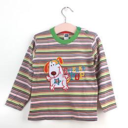 Wholesale Nova Kids Clothes - t shirts nova branded t shirts fall child tshirts stripe toddler shirts long sleeve kids clothes