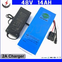 Wholesale battery for ebike - 1000W 48V 14Ah eBike Battery For 8Fun Bafang Motor Lithium ion Battery 48V With 2A Charger 30A BMS 18650 Cell Free Shipping