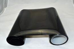 3d ball window sticker Promotion 1 * 33ft 0.3 * 10m rouleau Dark Smoke PVC filme farol phare teinte pour voiture phare feux arrière teintant DHL livraison gratuite
