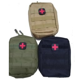 Wholesale Medical Pouches - Empty Bag for Emergency Kits Tactical Medical First Aid Kit Waist Pack Outdoor Camping Hiking Travel Tactical Molle Pouch Mini