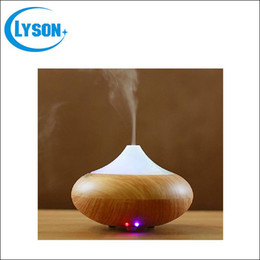 Wholesale generators home use - Ultrasonic Air Humidifier Aroma Oil Diffuser Ionizer Generator Aromatherapy Office Home SPA Wood Grain Aroma Diffuser Mist Maker
