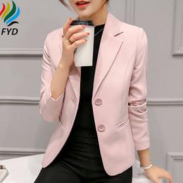 Wholesale Korean Office Wear - Fashion 2017 Basic Jacket Blazer Women Suit Korean Style Single Breasted Long Sleeve Ladies Clothes Autumn Office Work Wear Z272