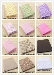Wholesale matches charm - 63 Assorted Pre-Cut Charm Cotton Quilt patchwork Fabric , Best Match Floral Dot Grid 50x50cm per sheet - Pick your own colors