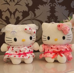 Wholesale Anime Cat Girls - Sitting Height 18cm Plush Cat TheToys Girls Classic Toys Stuffed Animals Anime Soft Toy Doll Plush Animals H015