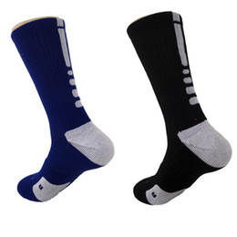 Wholesale Mens Socks For Winter - USA Athletic Sports Basketball Mens Socks Knee High Casual Professionl Elite Compression Thermal Winter Long Socks for Men's Stockings