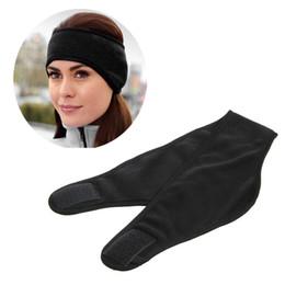 Wholesale warmest ear muffs - Wholesale- Women Men Winter Double Polar Fleece Warm Headband Ear Cover Ear Protection