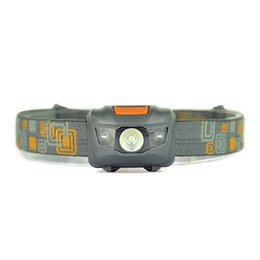 Wholesale Headlamp Hiking - Portable CREE R3 Headlamps 2 LED Flashlight Headlights Outdoors 300LM Headlight With Headband Hiking Camping Torch Light 2503020