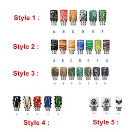 Wholesale E Cig Patterned - 510 Drip Tips Skull Scorpion Spider Color Pattern Colorful Mouthpiece for E Cigarette E Cig Rebuildable Atomizer Various Styles DHL Free