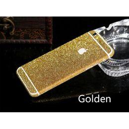 Filme bling on-line-Atacado-luxo bling corpo inteiro decalque glitter volta film case capa case para iphone 6 4.7 frete grátis