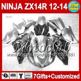 2019 carenado zx14 negro 7gifts Silver black Para KAWASAKI NINJA ZX-14R 2012 2013 2012 2013 ZX 14 R 25C222 Plateado negro ZX14R 12-13 ZX 14R 12 13 12 13 ZX14 R Fairing carenado zx14 negro baratos