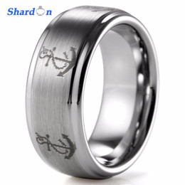 Wholesale Tungsten Wedding Bands For Men - SHARDON 8mm Tungsten Ring with matte finished Domed Wedding band for men Fashion ring for engagement party