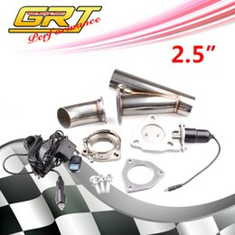"""Wholesale Electric Exhaust Dumps - GRT - 2"""" 2.5"""" 3"""" Electric Stainless Exhaust Cutout Cut Out Dump Valve switch with Remote control"""