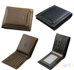 Wholesale Mens Designer Leather Wallets - Tops Exports New Style Mens Brand Designer Leather Luxury Purse Wallet Short Cross High Quality Wallets For Men Free Shipping