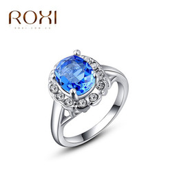 Wholesale Gold Coral Rings - 2016 new ROXI Delicate Fashion rose gold Plated Shinning Austrian crystal diamond ring gold-plated Rings valentine's day ring 080116