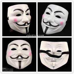 Wholesale Mask V Vendetta Pvc - V Vendetta party mask Halloween Mask Party V vendetta team pink blood scar masquerade masks Halloween carnival Mask adult size WY26-2