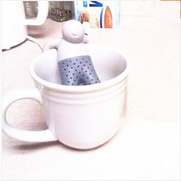 Wholesale Wholesale Infuser Teapots - 2017 Teapot cute Mr Tea Infuser Tea Strainer Coffee & Tea Sets silicone fred mr tea Silicon Herbal Spice Infuser Diffuser Cute