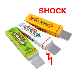 Wholesale Electric Shock Tricks - Free Shipping Safety Trick Joke Toy Electric Shocker Shocking Toys Chewing Gum Pull Head Practical Jokes Fantastic For Fun