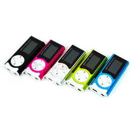 Wholesale Cheap Mini Radio Speaker - MP3 player with Cheap Clip LCD mini Sport Card mp3 support TF Card with folder Lyric Show 5 colors