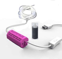 Wholesale Air Pump Mini Aquarium - 3-6V Silent fishing oxygen pump Air small aquarium Mini picnic essential USB outdoor finsh tools mobile