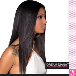 Wholesale Kinky Straight Hair For Weaving - Rosa Hair 6a Peruvian Virgin Hair Straight 3Bundles1B Peruvian Virgin Hair KInky Straight 100% Human Hair Weaving Hair Extensions For Sale