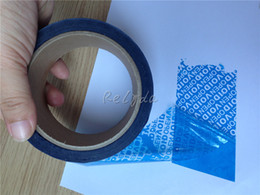 Wholesale Print Shipping Labels - Wholesale-Free shipping design tamper evident packaging tape adhesive security seal anti-counterfeit label transfer VOID OPEN 30mm*15m