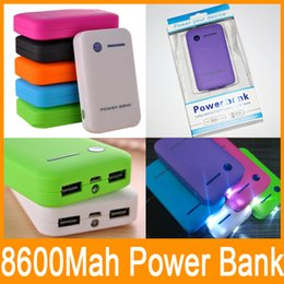 Wholesale Emergency External - 8600mAh Soap power bank Portable battery Emergency Rechargerable Multi Color USB charger for S5 PHONE Universal External Fedex Free shipping