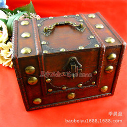 Wholesale Chinese Wooden Box Antique - Chinese have keyhole large copper nails vintage wooden jewelry box [] antique wooden vanity box storage box
