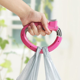 Wholesale Home One Trip Grips Shopping - Wholesale- Home One Trip Grips for Shopping Grocery Bag Holder Handle hand folding Foldable bag Carrier Lock Kitchen Tool Gift Baskets