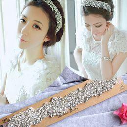 Wholesale antique white ribbon - Retail Extravagant Wedding Dresses Bridal Tiaras Hair Accessories With Elastic Strap Rhinestone Hair Headpiece Jewellery New