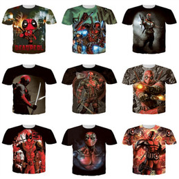 Wholesale Deadpool T Shirt - Mens Deadpool T-shirts American Comic X-Men Deadpool T-Shirt Tees 3d mens T-shirt Deadpool print T-Shirt Funny T-shirts DHL free D358 10