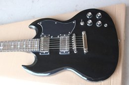 Wholesale Electric Guitars Young - Wholesale -High Quality Newest black SG silver hardware Angus Young Limited Edition black SG Electric Guitar