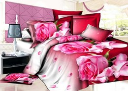 Wholesale Wash Machine Covers - Home textiles New style Perfume-lily design 3D 4pcs bedding set of duvet cover bed sheet pillowcase