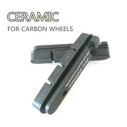 Par de ruedas online-2 pares de pastillas de freno de carbono Almohadillas de rueda de carbono Material cerámico aptos para llantas de carbono Shimano y SRAM utilizadas de primera calidad
