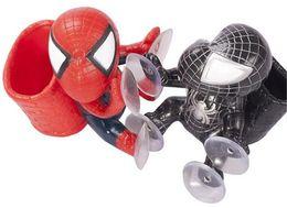 Argentina Hot Spider Man Auto Parte precioso Accesorios Coche lindo Decoración Negro Rojo Enfriar Ventosas de succión muñeca envío libre cheap spider auto Suministro