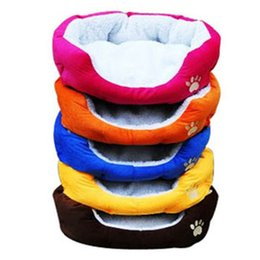Wholesale Doghouse Free Shipping - Wholesale-Cute Pet Dog Nest Puppy Cat Dogs Bed Fleece Warm Soft Winter Doghouse Doghole for Pets Plush Mat Kennel Free Shipping