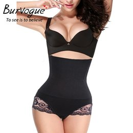 Wholesale Tummy Shapers For Women - Burvogue Slimming Steel Bone High Waist Body Shaper for Women Hot Shapers Butt Lifter and Tummy Control Underwear Lace Shaper