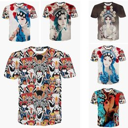 Wholesale Girls Sexy Hips - w1223 camisetas women men hip hop crewneck t shirt Beijing opera ghost face sexy girl print 3d t shirt summer casual tshirt tops tee