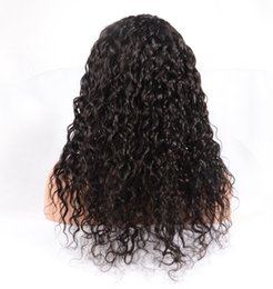 Wholesale Tangle Free Lace Wigs - Stock! Brazilian Virgin Human Hair Full Lace Wigs, Body Curly Tangle Free Human Hair Full Lace Wigs