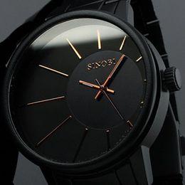 Wholesale Sinobi Stainless Steel Black - SINOBI Mens Watches Top Brand Luxury Men Full Steel Wristwatches Business Quartz couple Watch Waterproof Reloj relogio masculino