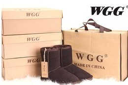 Wholesale Australia Boots - 2017 High Quality Classic WGG Brand Women popular Australia Genuine Leather Boots Fashion Women's Snow Boots US5--US13 Free Shipping