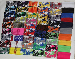 Wholesale Sports Sleeves - 150pcs compression arm sleeve Baseball Stitches Outdoor Sport Stretch guard Elbow Extended armband 138 colors