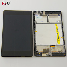 Wholesale Asus Google Nexus Digitizer - Wholesale- R&U LCD display + Touch screen panel Digitizer assembly + frame for ASUS Google Nexus 7 2nd Gen 2013 ME571 ME571KL 3G version