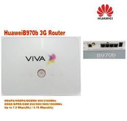 Lager doppelsim online-Freier Verschiffen Huawei B970B 3g beweglicher drahtloser Fräser mit wifi sim Schlitz plus Doppelusb-Kabel und 3g Antenne