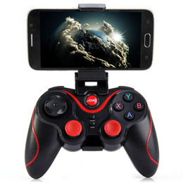 Wholesale Remote Controller Holder - Terios T3 Wireless Bluetooth Gamepad Joystick Game Gaming Controller Remote Control for iphone ios Samsung S6 S7 Android phone with Holder