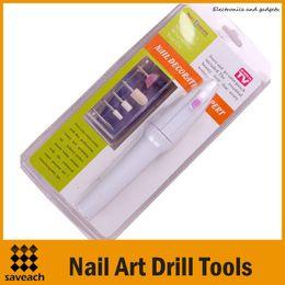 Wholesale Cordless Electric Manicure - 2015 New Mini Cordless Nail art drill tools Nail Art Tips ELECTRIC MANICURE Toenail DRILL FILE TOOL